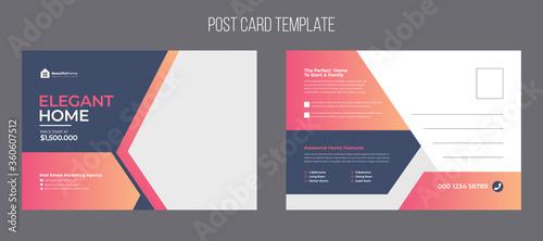 Fotografie, Obraz Real estate postcard template design