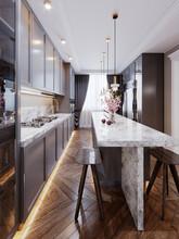 A Modern Kitchen Island Made O...