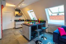 Loft Interior Of Modern Flat. ...