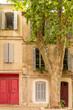 canvas print picture Avignon, typical house, colorful building
