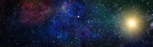Milky Way Galaxy And Space Dus...