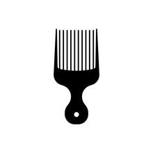 Afro Pick Icon.flat Vector Gra...