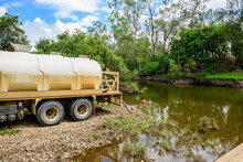 Tanker Truck Pumping Fresh Wat...