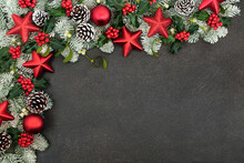 Christmas Background Border Wi...