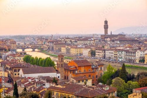 Florence city downtown skyline cityscape of  Italy Canvas