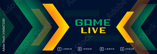 Foto live game online streaming sports style banner