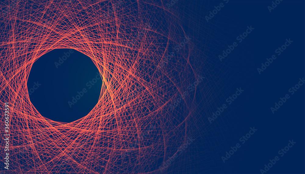 Fototapeta abstract glowing fractal lines mesh digital background