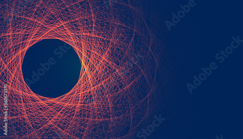 abstract glowing fractal lines mesh digital background
