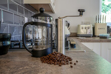Preparing Fresh Coffee With Be...