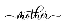 Mother Vector Calligraphic Ins...