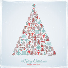 Christmas Card Design. Vector ...