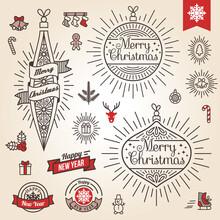 Christmas Set. Labels, Emblems...