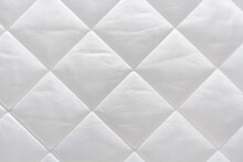 White Cotton Quilted Fabric Ma...