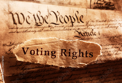 Stampa su Tela Voting Rights and Constitution