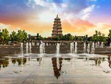 Giant Wild Goose Pagoda, Xian,...