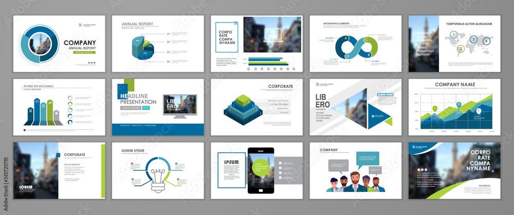 Fototapeta Presentation templates design