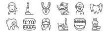 12 Set Of Linear Dental Care I...