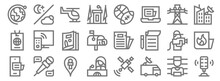 News Line Icons. Linear Set. Q...