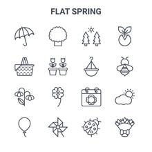 Set Of 16 Flat Spring Concept ...