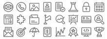 Business Line Icons. Linear Se...