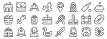 England Line Icons. Linear Set...