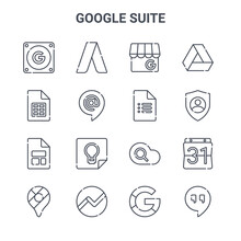 Set Of 16 Google Suite Concept...