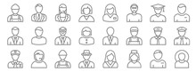 Professions Line Icons. Linear...