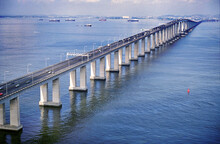 Rio-Niteroi Bridge Is A Box Girder Bridge Crossing Guanabara Bay, In The State Of Rio De Janeiro. It Connects The City Of Rio De Janeiro And The Municipality Of Niterói.  Total Length: 13,2 Km