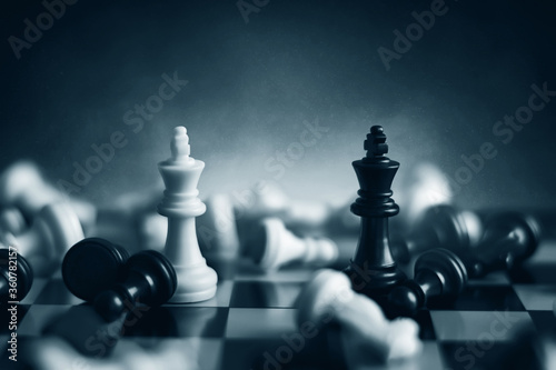 Tela Chess pieces on chess board