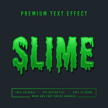 Decorative Slime Font And Alph...