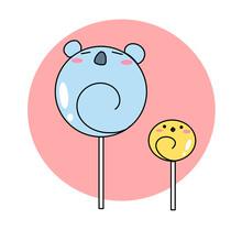 Koala Bear Chick With Lollipop