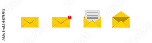 New Message, Dialog, Chat Speech Bubble Notification flat icon Obraz na płótnie