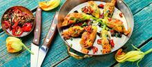 Fried Zucchini Flowers With Fi...
