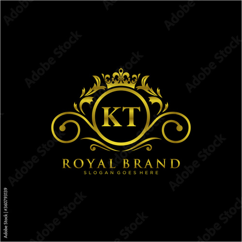 Foto KT Letter Initial Luxurious Brand Logo Template.