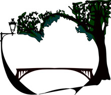 Heart Shaped Tree And Lamp Pos...