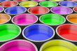 canvas print picture Abstract background of paint can. 3D rendering.