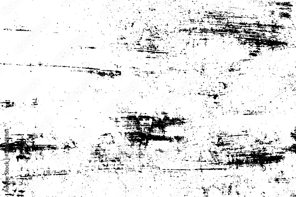 Fototapeta Grunge background black and white. Dark texture dirty. Rust effect. Distressed overlay texture of cracked. Halftone vector illustration, Eps 10.