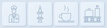 Set Line Pilot, Coffee Cup, Ro...