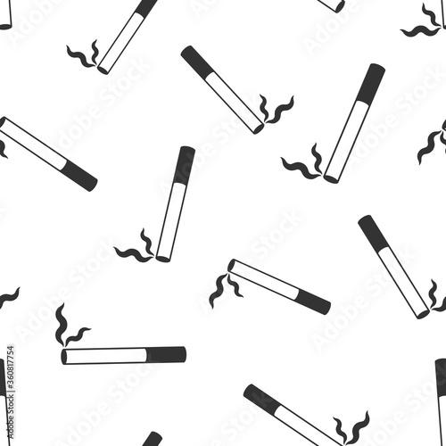 Photo Cigarette icon in flat style