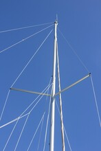 Low Angle Shot Of Sail Boat Sp...
