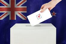 New Zealand Vote Concept. Vote...