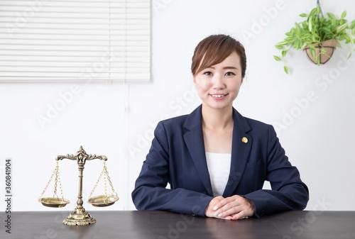 女性弁護士 Canvas Print