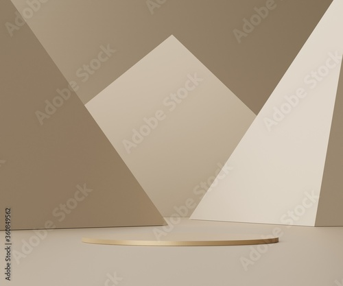 Obraz 3d abstract render scene of minimal Podium for display products and advertising with clean background. - fototapety do salonu