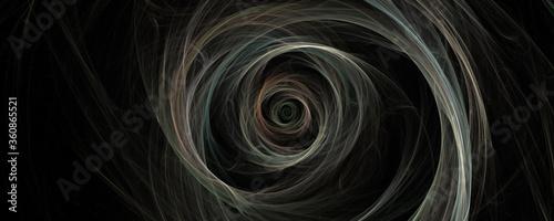 Obraz Spinning fractal burst on black background - fototapety do salonu