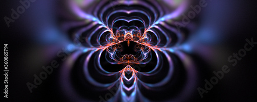 Abstract energy background with glowing lines Canvas Print