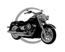 Vintage Harley Motor Bike Vect...