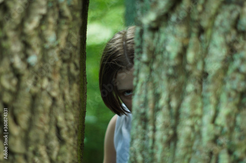 Fototapeta Las, ręka, kobieta obraz