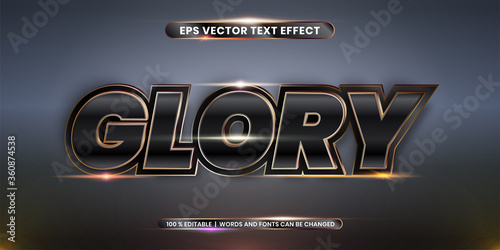 Canvas Editable text effect styles mock up concept - Glory words with Gradient Black an