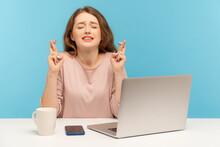 Woman Employee Sitting At Work...