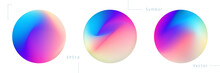 Set Of Colorful Circle Graphic...